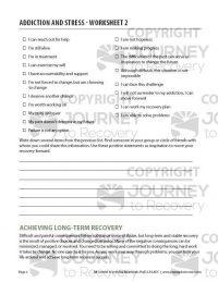 Addiction and Stress – Worksheet 2 (COD)