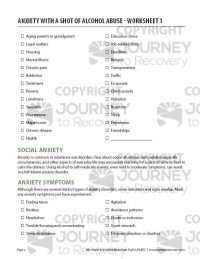 Anxiety with a Shot of Alcohol Abuse – Worksheet 1 (COD)