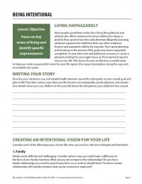 Being Intentional (COD Worksheet)