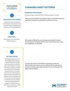 Changing Habit Patterns (COD Focused Journal)