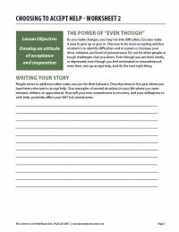 Choosing to Accept Help – Worksheet 2 (COD)