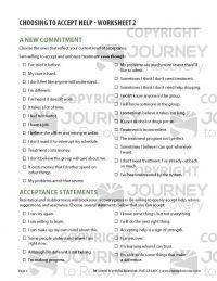Choosing to Accept Help – Worksheet 2 (COD)