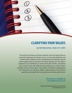 Clarifying Your Values (COD Lesson)