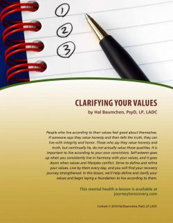 Clarifying Your Values (MH Lesson)
