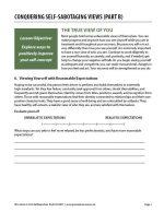 Conquering Self-Sabotaging Views – Part B (COD Worksheet)
