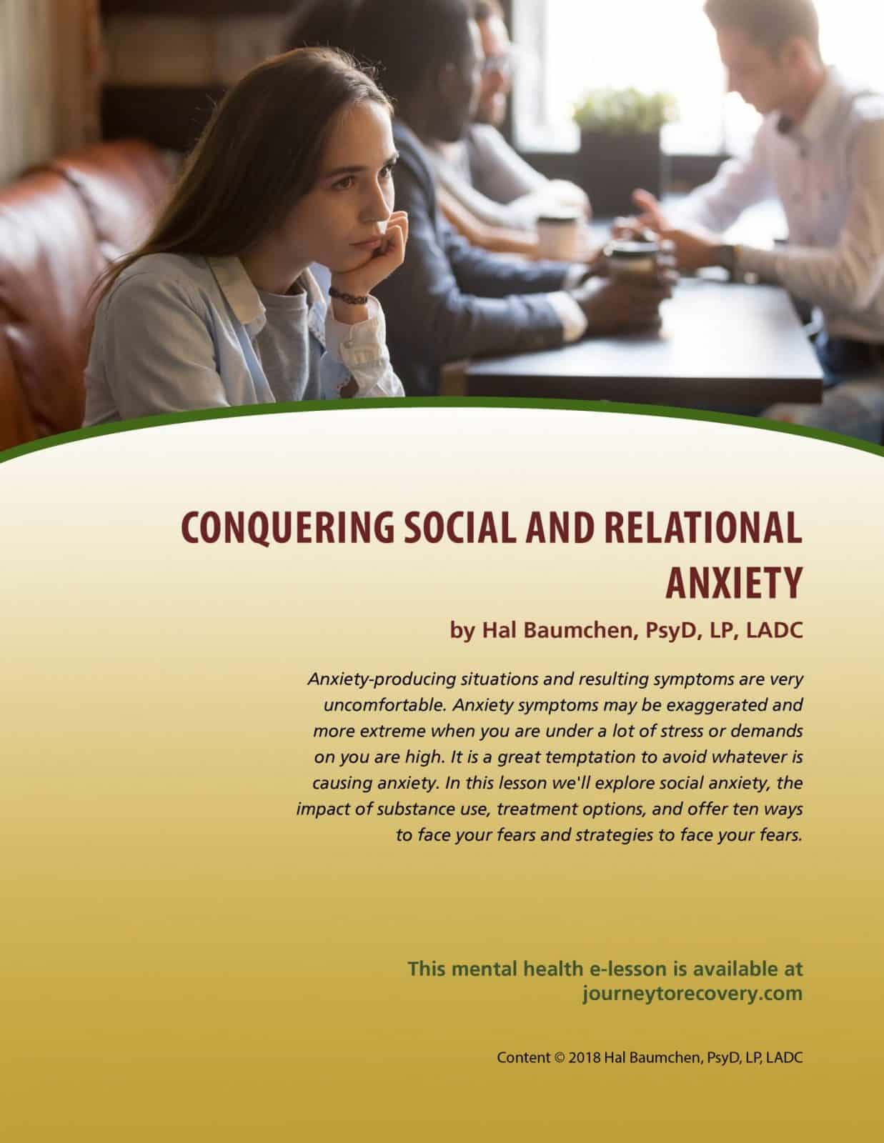 Conquering Social and Relational Anxiety (MH Lesson)