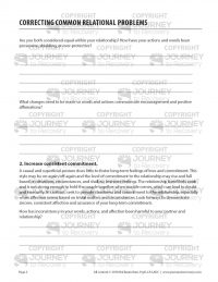 Correcting Common Relational Problems (COD Worksheet)