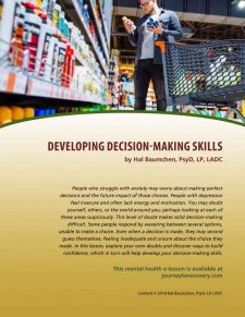 Developing Decision-Making Skills (MH Lesson)