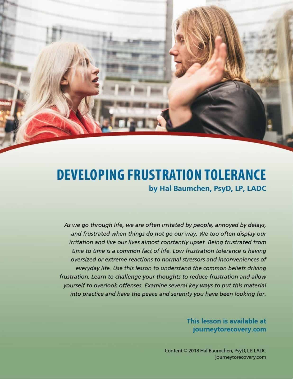 Developing Frustration Tolerance (COD Lesson)