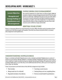 Developing Hope – Worksheet 1 (COD)