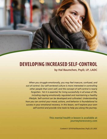 Developing Increased Self-Control (MH Lesson)