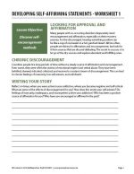 Developing Self-Affirming Statements – Worksheet 1 (COD)