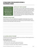 Establishing Your Recovery Beyond a Reasonable Doubt (COD Worksheet)