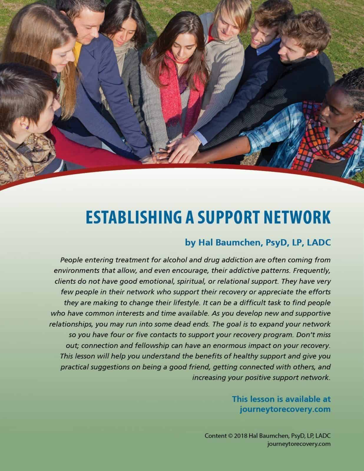Establishing a Support Network (COD Lesson)