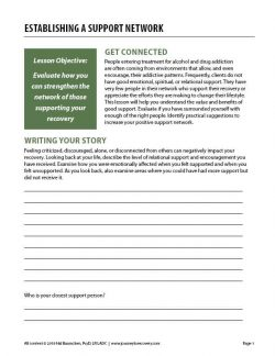 Establishing a Support Network (COD Worksheet)