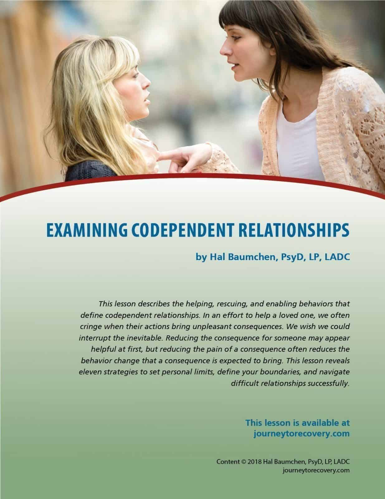 Examining Codependent Relationships (COD Lesson)