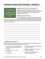 Examining Common Anxiety Disorders – Worksheet 2 (COD)