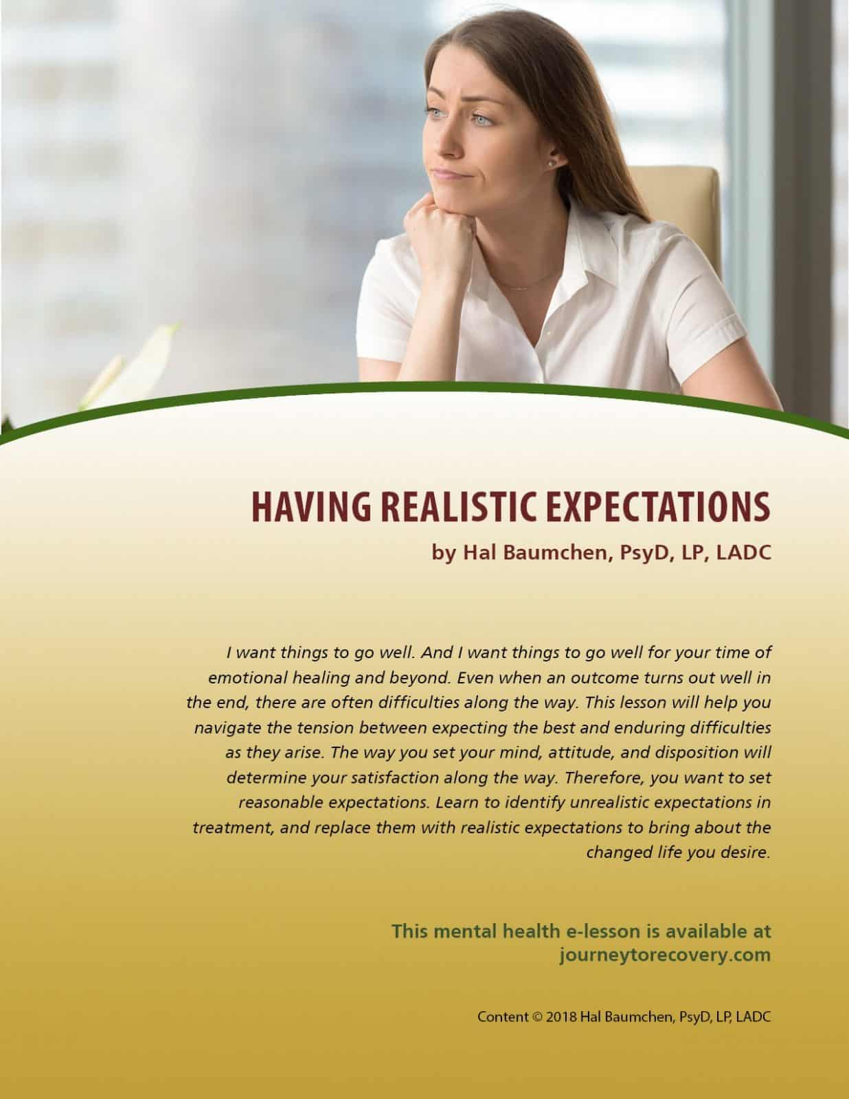 Having Realistic Expectations (MH Lesson)
