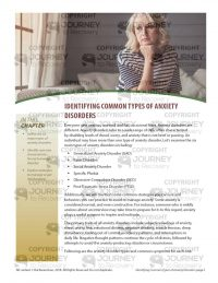 Identifying Common Types of Anxiety Disorders (MH Lesson)