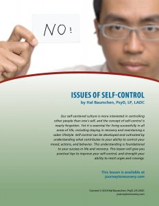 Issues of Self-Control (COD Lesson)