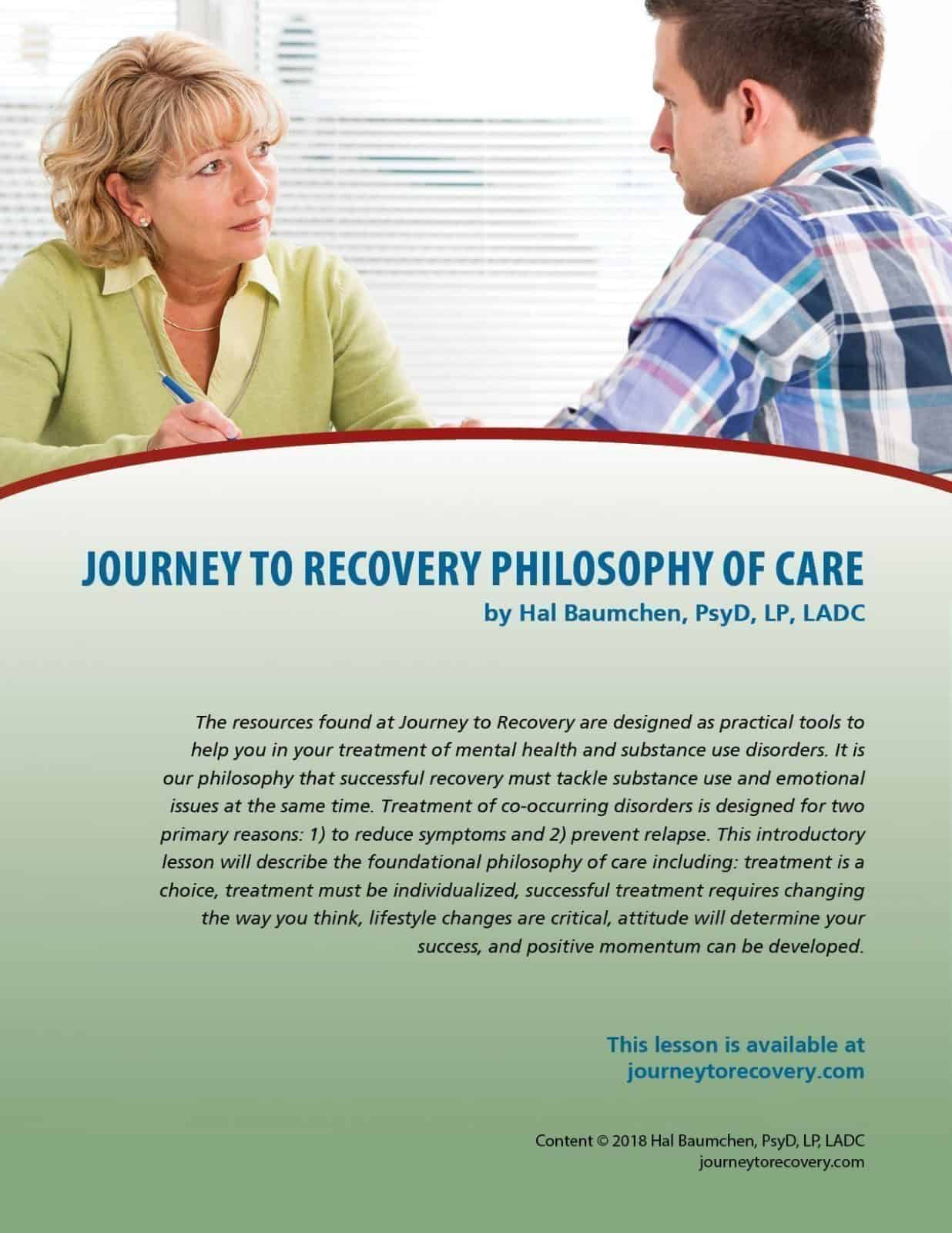 Journey to Recovery Philosophy of Care (COD Lesson)