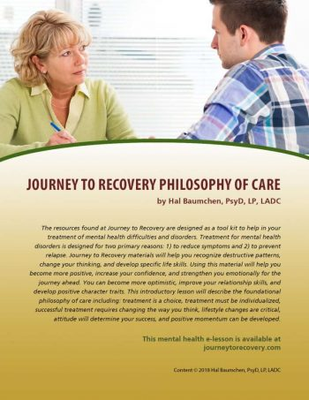 Journey to Recovery Philosophy of Care (MH Lesson)