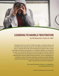 Learning to Handle Frustration (MH Lesson)