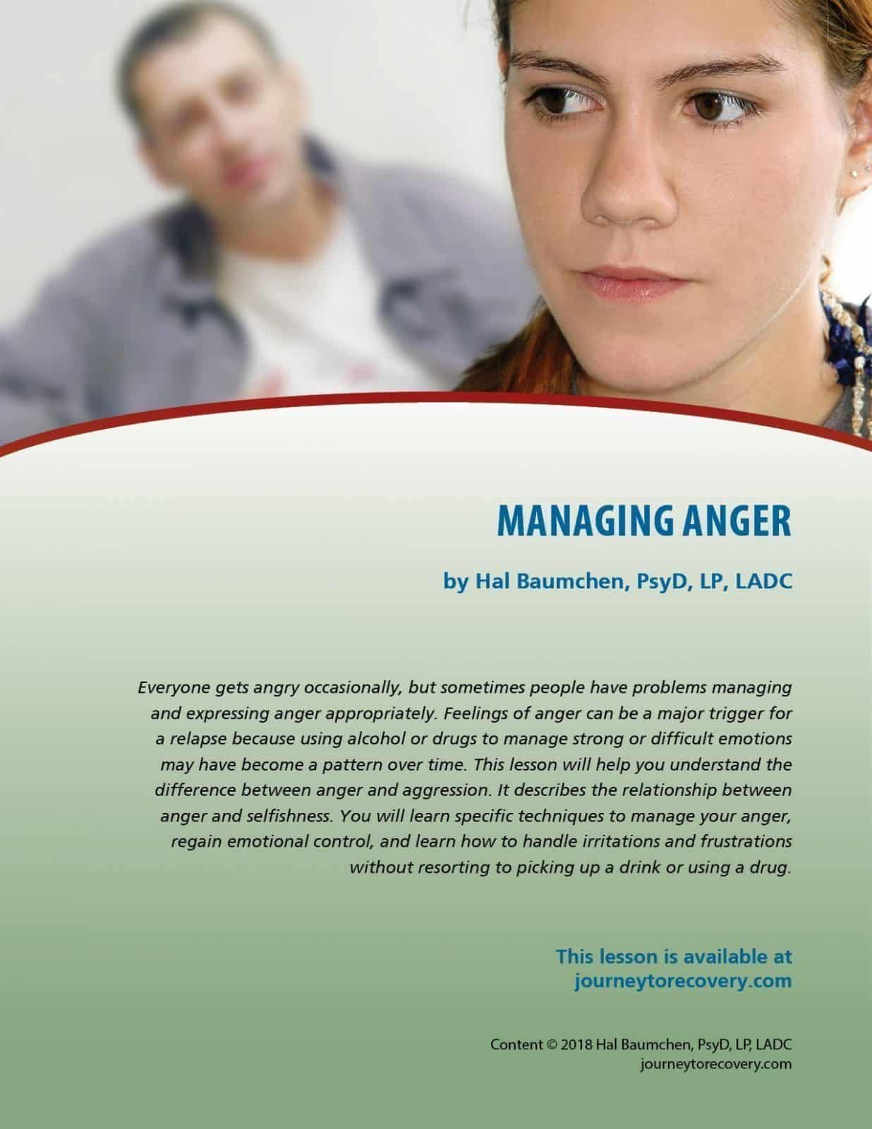 Managing Anger (COD Lesson)