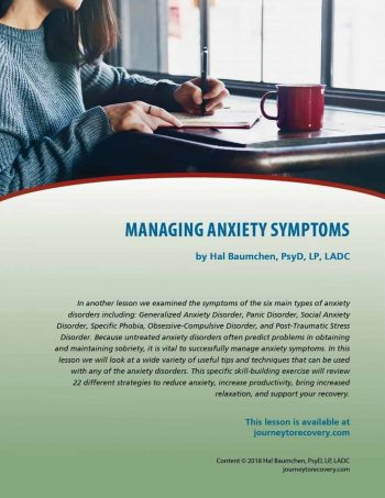 Managing Anxiety Symptoms (COD Lesson)
