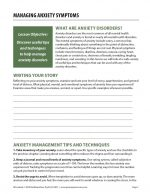 Managing Anxiety Symptoms (COD Worksheet)