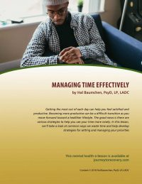 Managing Time Effectively (MH Lesson)