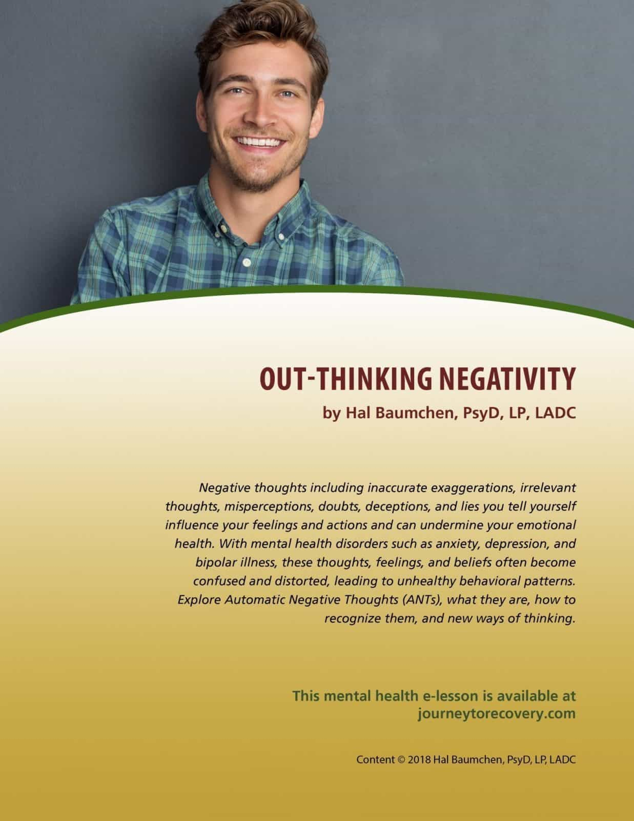 Out-Thinking Negativity (MH Lesson)