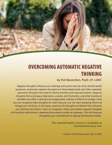 Overcoming Automatic Negative Thinking (MH Lesson)