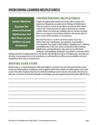 Overcoming Learned Helplessness (COD Worksheet)