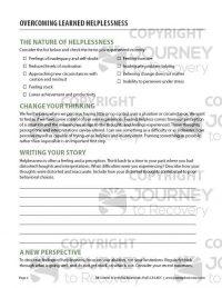 Overcoming Learned Helplessness (COD Worksheet)