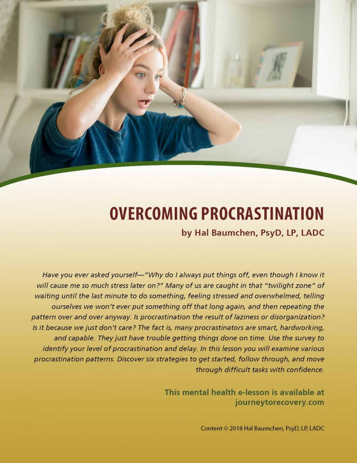 Overcoming Procrastination (MH Lesson)