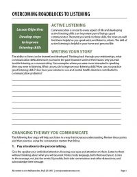 Overcoming Roadblocks to Listening (COD Worksheet)