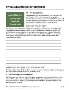 Overcoming Roadblocks to Listening (COD Worksheet)