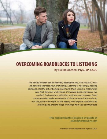 Overcoming Roadblocks to Listening (MH Lesson)