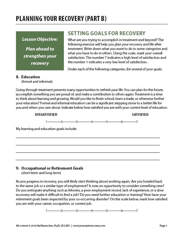 Planning Your Recovery - Part B (COD)