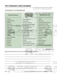 Post-Traumatic Stress Disorder (COD Worksheet)