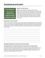 Recognizing Relapse Points (COD Worksheet)