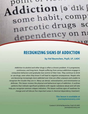 Recognizing Signs of Addiction (COD Lesson)