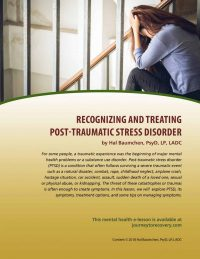 Recognizing and Treating Post-Traumatic Stress Disorder (MH Lesson)