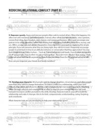 Reducing Relational Conflict – Part B (COD Worksheet)