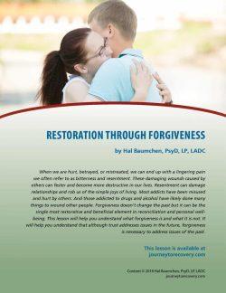 Restoration Through Forgiveness (COD Lesson)