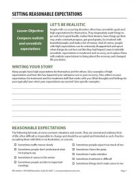 Setting Reasonable Expectations (COD Worksheet)