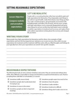 Setting Reasonable Expectations (COD Worksheet)