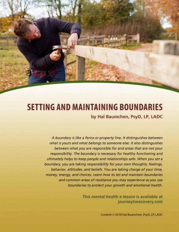 Setting and Maintaining Boundaries (MH Lesson)