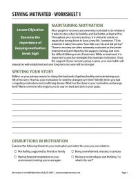 Staying Motivated – Worksheet 1 (COD)